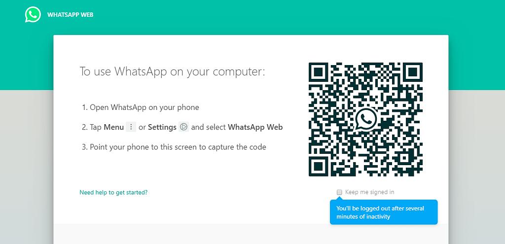 use whatsapp on laptop