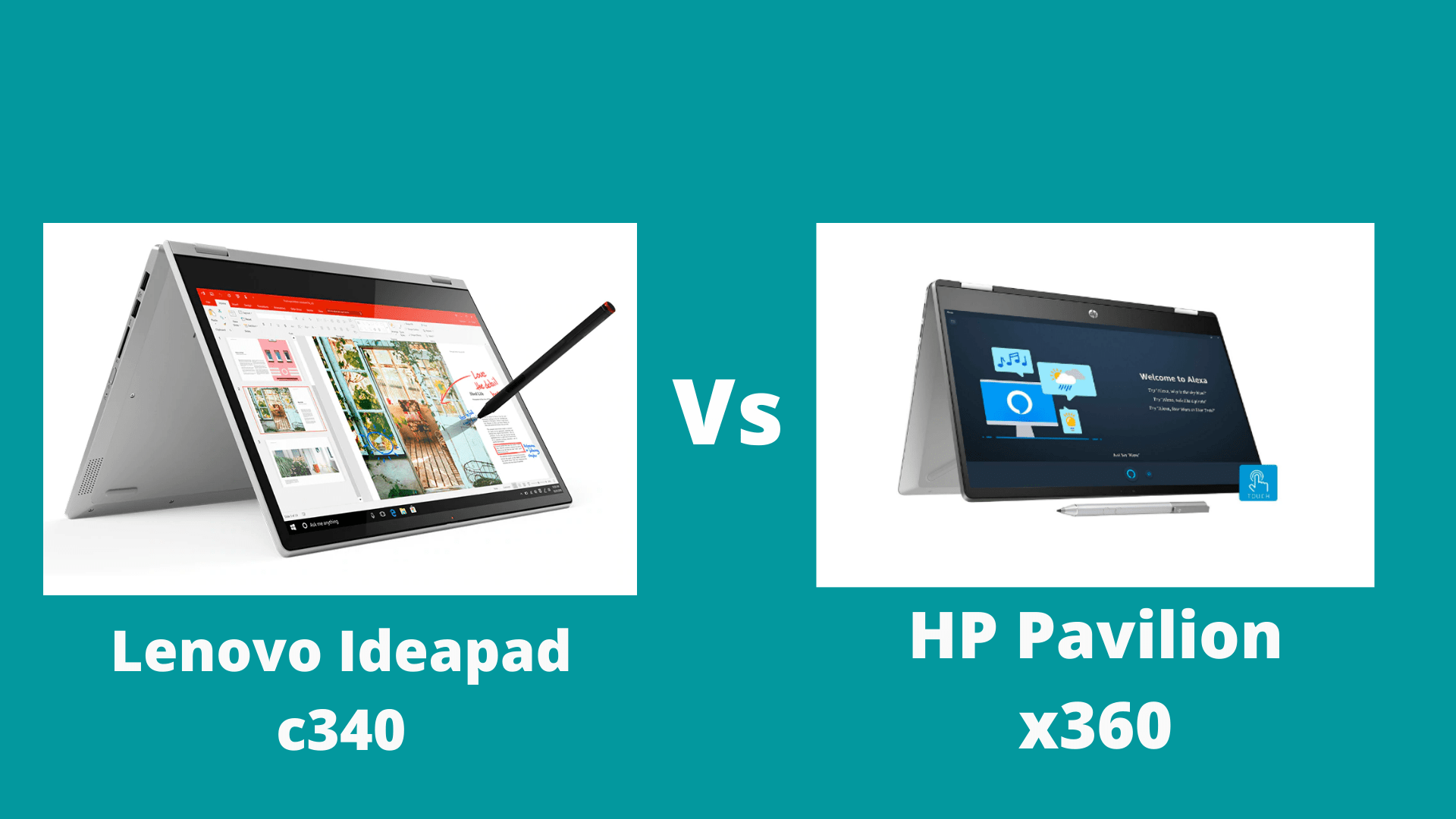 HP Pavilion x360 vs Lenovo Ideapad c340 (2020)